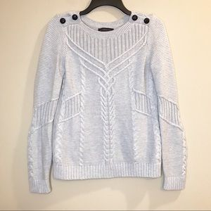 Banana Republic Cable Knit Sweater Long Sleeves